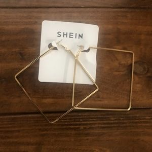 large Shein square hoops